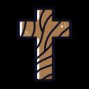Wooden Cross Icon