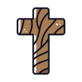 Wooden Cross Icon
