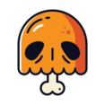 Pumpkin Skull Icon