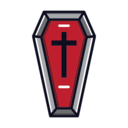 Red Coffin Icon
