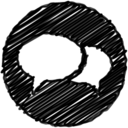 Handdwritten Chat Bubbles Icon