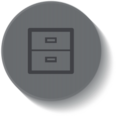 Outline File Cabinet Icon