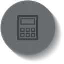 Outline Calculator Icon