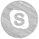 Handdrawn Skype Icon