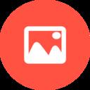 Flat Photograph Icon