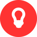 Flat Light Bulb Icon