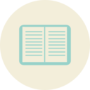 Flat Textbook Icon