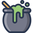 Witch's Brew And Cauldron Icon