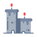 Two Halloween Candle Icons