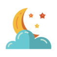 Clouds with Moon Icon