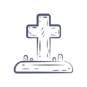 Cross in Graveyard Icon