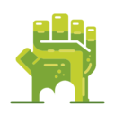 Frankenstein Hand Icon