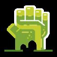 Frankenstein Hand Icon