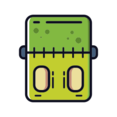 Skinny Frankenstein Head Icon