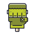 Green Monster Hand Icon
