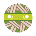 Round Mummy Head Icon