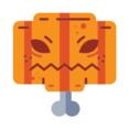 Scary Pumpkin Head Icon