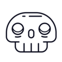 Round Skeleton Icon