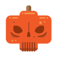 Skull Pumpkin Icon