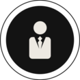 Flat Business Man Icon