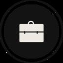 Flat Briefcase Icon