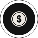 Flat Coin Icon