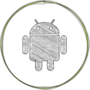 Handdrawn Android Icon