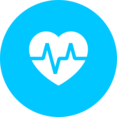 Flat Heart Rate Icon