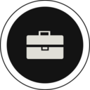 Flat Briefcase Icon