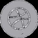 Handdrawn Dribble Icon