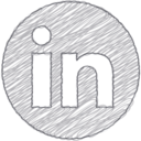 Handdrawn LinkedIn Icon