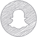 Handdrawn Snapchat Icon
