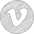 Handdrawn Vimeo Icon