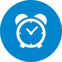 Flat Alarm Clock Icon