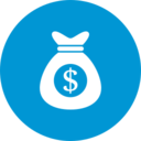 Flat Money Bag Icon