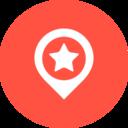 Flat Destination Icon