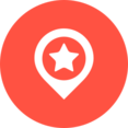 Flat Destination Icon