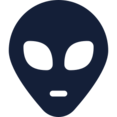 Traditional Alien Head Icon