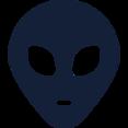 Traditional Alien Head Icon