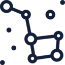 Big Dipper Constellation Icon