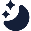 Half Moon and Stars Icon