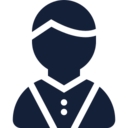 Button Down Male User Icon