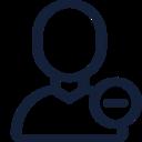 Minus Sign User Icon