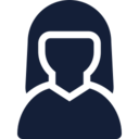 Simple Female User Icon
