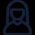 Simple Female User Icon