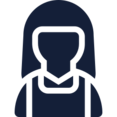 Female in Sleeveless Shirt User Icon