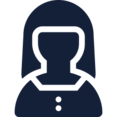 Female in Button Down User Icon