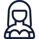 Female in Dress User Icon