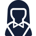 Female in Bow Tie User Icon