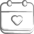 Heart Filled Calendar Icon